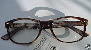 6fd733fb952b WAYFARER STYLE READING GLASSES TORTOISESHELL +2.5 RETRO LOOK  Amazon ...