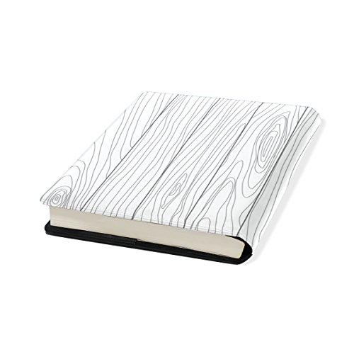 9 X Fits 11 Book Stretchable Jusqu'à Wood Coosun Libre Cover Pu Cuir Livre Multicolore Pouces École Protector Livre Plupart Relié Des Manuels Texture 11 La Sox Adhésif xAZnaOw