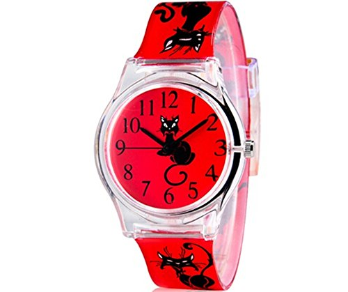 Price comparison product image Hansying Cartoon Cat Design Kids Watch 10M Waterproof Digital Quartz Watch Student Watch