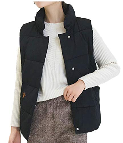 Outwear Warm Winter Black Waistcoat Down Jacket TTYLLMAO Vest Women's qRIP0