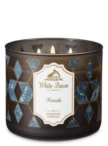 White Barn Bath & Body Works 3 Wick Candle Fireside