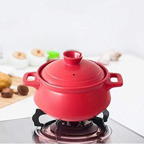 UWY Pot à ragoût en Terre Cuite Casserole Casserole en céramique - Efficacité énergétique, Saine et Durable, capacité 2500 ML-capacité 2500 ML_Red