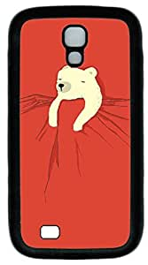 Galaxy S4 Case, Personalized Protective Soft Rubber TPU Black Edge Sleeping Bear Case Cover for Samsung Galaxy S4 I9500