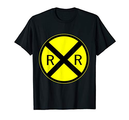 Railroad Crossing Sign Simple Easy Halloween Costume T-Shirt]()