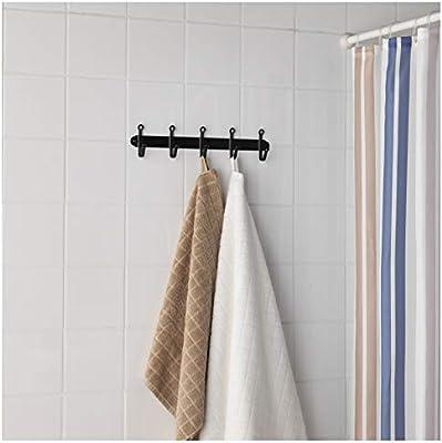 Amazon.com: IKEA SVARTSJON Negro 5 Gancho Gancho Ropa rack ...
