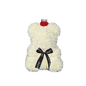 Rose Teddy Bear 15 Inch Flower Teddy for Wedding Birthday Holidy Gift 8-Color Choice 107