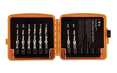 Klein Tools 32217 Drill Tap Tool Kit, Six Tap Sizes Plus Two Extra of the Smaller Taps