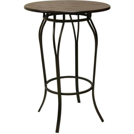 Garden Stool Finish (Better Homes and Gardens Decorative Classic Design Furniture Mixed Material Pub Restaurant Table, Mahogany Wood Finish, Hammered Bronze Metal Finish)
