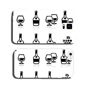 Brandy and cognac vector icons set cell phone cover case Samsung S5