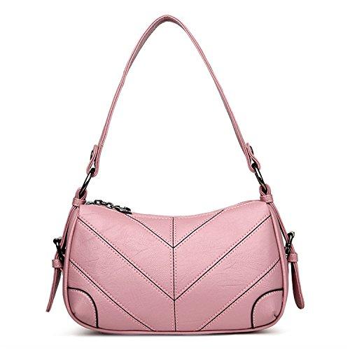 Availcx Bolsos de cuero de las mujeres Bolsos de Hobo Bolso de Crossbody rosa