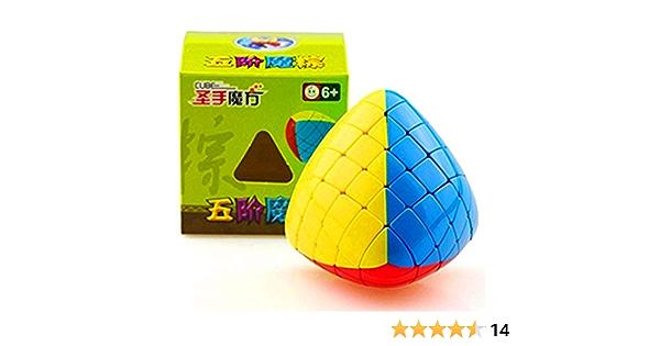 HXGL-Drum Megamorphix 5X5 Cubo m/ágico sin Pegatinas Mastermorphix 5X5 Speed Puzzles Cube Gigamorphix Solid Durable Sin Pegatinas Twisty Toys ni/ños Adultos
