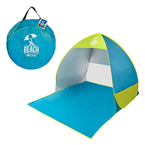 AKTIVE 62165 – Strandtent Pop Up blauw groen actief beach