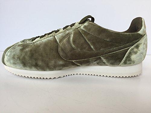 Nike Womens Classic Cortez Prm Medium Olijf Velours