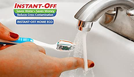faucet water saver attachment. INSTANT OFF ECO Universal Water Saver Automatically Shuts Off  Push Rod for