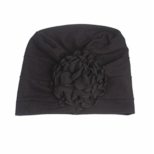 6004c20c893 Qhome Girls Cotton Beanie Flower Slouch Cap Hospital Hat Kids Headwarp  Turban Hair accessories