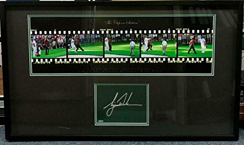 - Tiger Woods Signed Autographed 2005 Masters Filmstrip Golf Photo Framed Coa - Upper Deck Certified - Golf Plaques and Collages