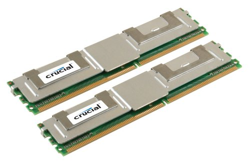 Crucial 4GB kit (2GBx2) DDR2 667MHz (PC2-5300) CL5 Fully Buffered ECC 240pin- FBDIMM - CT2KIT25672AF667 / CT2CP25672AF667 - Pro Ddr2 667 Fully Buffered