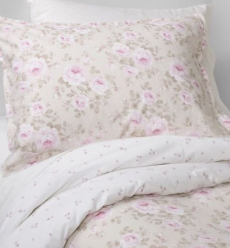 - Simply Shabby Chic Duchess Blossom Rose Floral One Standard Pillowcase/Sham Tan Pink