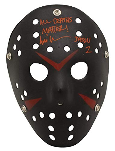 Ari Lehman Signed Friday The 13th Replica Black Mask All Deaths Matter BAS