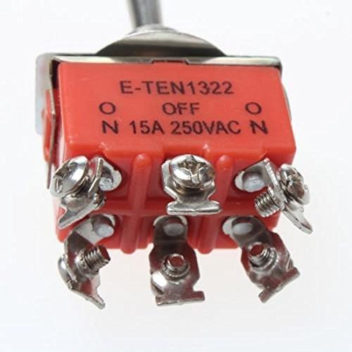 UXOXAS Plastic + Copper On-Off-On Toggle Switches 6-Pin - Orange (5PCS)