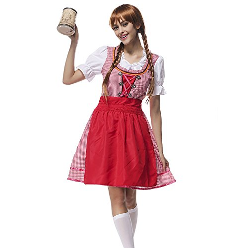 Oktoberfest Beer Maid Wench German Bavarian Maid Cosplay Costume (Bavarian Outfit)