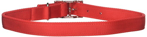 Coastal Pet Products DCP290124RED Nylon Double Dog Collar, 1 by 24-Inch, Red