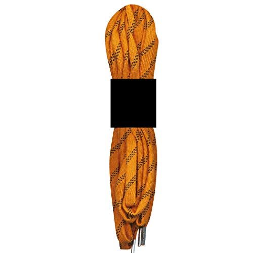 Safety Care Kevlar Fire Retardant Metal-Tip Boot & Shoe Laces - Resist Abrasion, Heat, Fire, Corrosion, Acid, Chemicals and Mold - Great for Welders, Firemen, Police, Construction, OSHA, DOL - 60 inch - Orange/Black (Safety Osha Shoes)