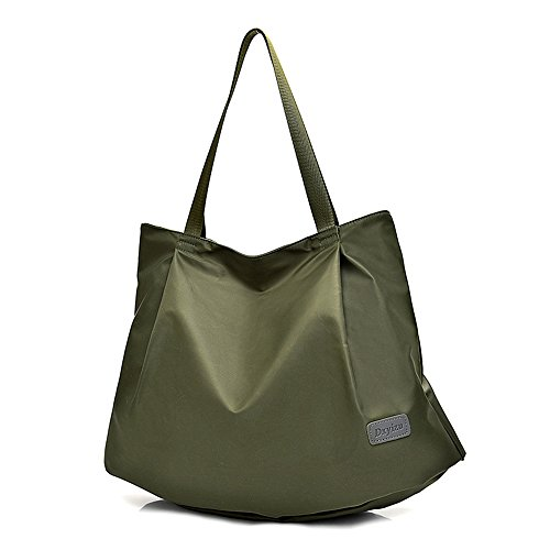ZIIPOR Women's Leisure Handbag Waterproof Weekend Shopping Tote Hobo Bag (Dark Green) by ZIIPOR