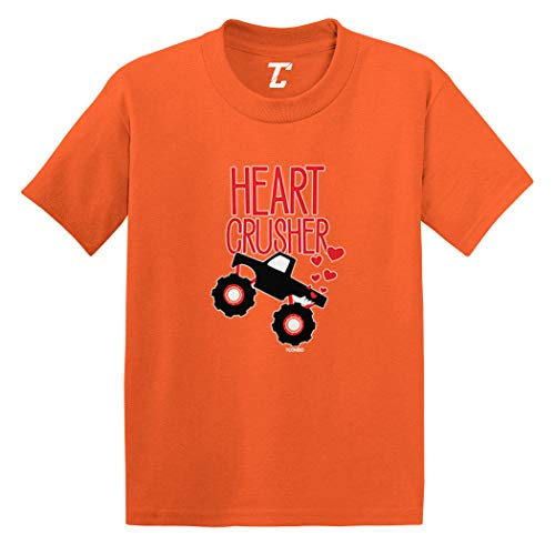Heart Crusher - Monster Truck Crush Infant/Toddler Cotton Jersey T-Shirt (Orange, 6 Months)
