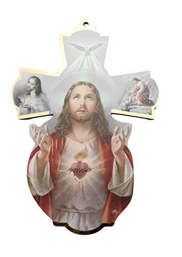 8 25 inch Sacred Heart Jesus Wooden product image