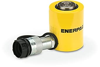 """Enerpac RCS-101 Single-Acting Low-Height Hydraulic Cylinder with 10 Ton Capacity, Single Port, 1.5"""" Stroke Length"""