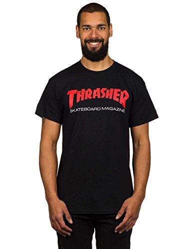 - Thrasher Two-Tone Skate Mag (Black) T-Shirt-XLarge
