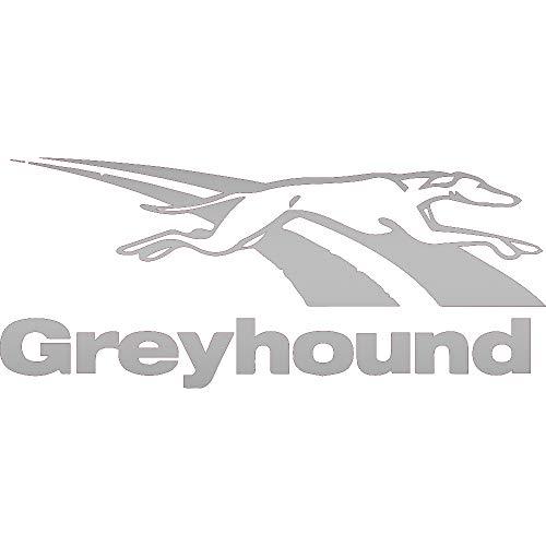 NBFU DECALS Logo Greyhound Bus Lines (Metallic Silver) (Set of 2) Premium Waterproof Vinyl Decal Stickers for Laptop Phone Accessory Helmet CAR Window Bumper Mug Tuber Cup Door Wall Decoration