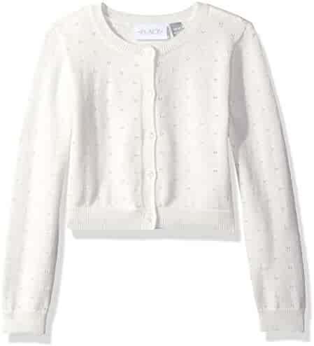 The Children's Place Girls' Pointelle Cardigan Sweater