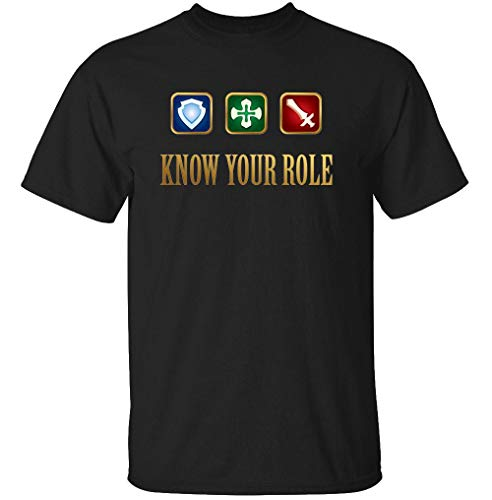 TeeRexTee Know Your Role - Final Fantasy XIV - Unisex T Shirt - Nerd Geek Apparel Funny