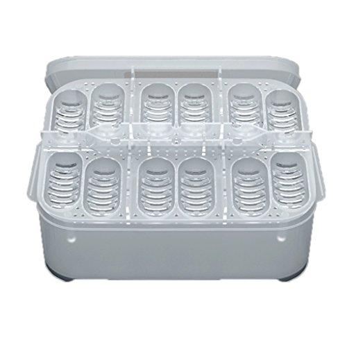 Jili Online Simple Plastic CM Reptile 12 Egg Holes Incubator Container Box