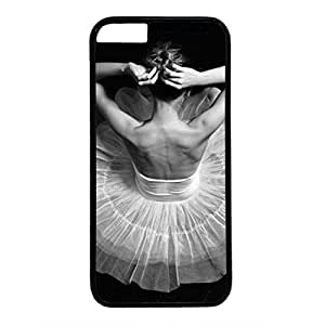 Hard Back Cover Case for iphone 5s,Cool Fashion Black PC Shell Skin for iphone 5s with Ballet-Dancer