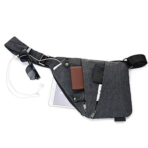 el Ocio Robo de de Mochila teléfono Pecho A Seguridad Hombro STRIR Portátil de Anti Bolsa la Ocultos Mensajero Dinero Bolso de Bolsa del axila para Deportes de Underarm Bolsa A Multiusos Hombro HYqwXxnnpR