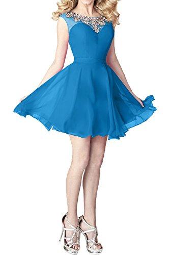 Kleider Abendkleider Chiffon Pailletten Blau Jugendweihe mia Kleider mit Braut Linie A Cocktailkleider Partykleider La Standsamt wt0Sqx