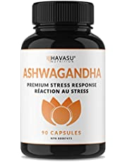 Havasu Nutrition Ashwagandha Capsules 3000 mg (per serving) Extra Strength - Adaptogen for Stress Relief & Anti-Anxiety Control; 90 Capsules