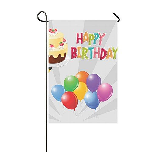 llyaon.iao- Happy Birthday Garden Decor & Celebration Holiday Garden Flags (Photo Garden Flag)