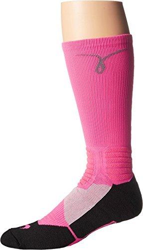 Nike Kay Yow Hyper Elite Crew Socks Hyper Pink/Grey SX4967-600 (L 8-12)