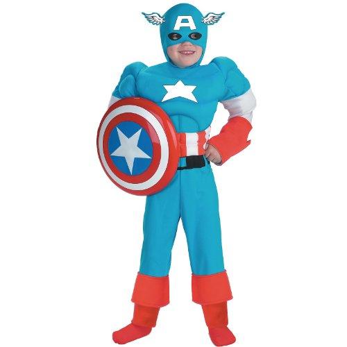 (Captain America Classic Muscle Costume -)