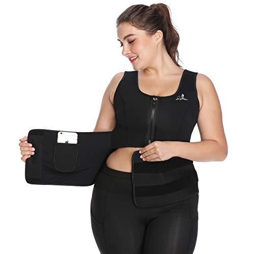 Joyshaper Sweat Waist Trainer Vest for Women Weight Loss Neoprene Sauna Suit Adjustable Waist Trimmer Belt Tank Top