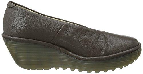 FLY London Damen Yaz - Zapatos de cuña para Mujer Marrón (Ground 203)