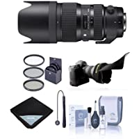 Sigma 50-100mm f/1.8 DC HSM Art Lens for Nikon Cameras - Bundle with 82mm Filter Kit, Flex Lens Shade, Lens Wrap (19x19), Cleaning Kit, Cap Leash