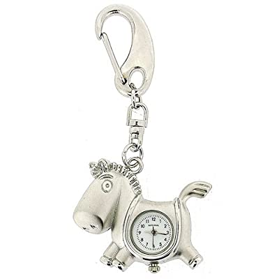 GTP Unisex Novelty Horse Clock Keyring An Ideal Gift For Him Or Her IMP714