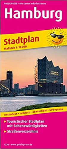 Hamburg Stadtplan 1 18 000 Touristischer Stadtplan Mit