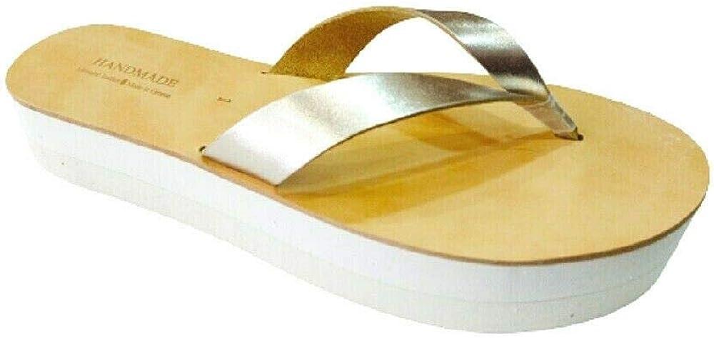 Greek Handmade Sandals, HELIOS Platform Wedge Women Genuine Leather Handcrafted Ancient Style, Gladiator Slide Spartan Roman Summer High Heel Thong Fashion Shoes