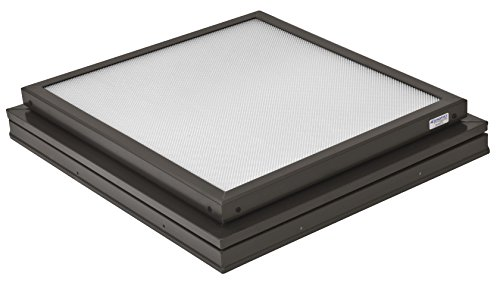 Sunoptics SUN R2020 FLAT TGZ 50CC2 840B BZ  2-Feet by 2-Feet Triple Glazed Manually Venting Curb-Mounted Prismatic Flat Skylight, Bronze